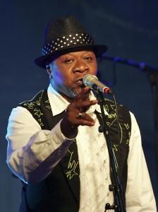 Congolese singer Papa Wemba performs dur