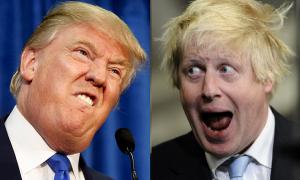 Boris Johanson (kulia) na Donald Trump (kushoto)