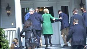 Moja ya picha zinazodaiwa zinaonesha afya dhoofu ya Hillary Clinton.