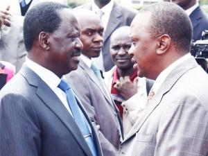 Raila Odinga Uhuru Kenyatta