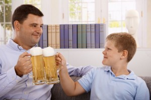 father-and-son-drinking-dreamstime_m_24191880_0