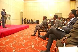 Rais Dk. John Magufuli akizungumza na waandishi wa habari