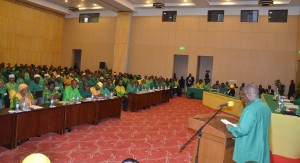 Mwenyeketi wa Chama Cha Mapinduzi (CCM), Rais Dk. John Magufuli akifungua kikao cha kwanza cha Halmashauri Kuu (NEC).