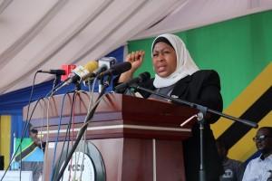 Makamu wa Rais wa Jamhuri ya Muungano wa Tanzania Mhe. Samia Suluhu Hassan.