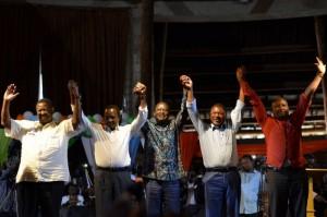 Raila Odinga, Kalonzo Musyoka, Musalia Mudavadi na Moses Wetangula